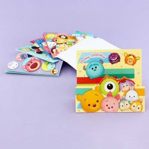 Tsum Tsum Folding Christmas Card Set