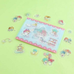 Little Twin Stars Transparent Stickers In Plastic Envelope