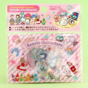 Sanrio Character Transparent Stickers In Plastic Envelope - Retro