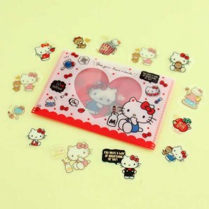 Hello Kitty Transparent Stickers In Plastic Envelope