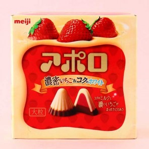 Meiji Big Apollo Rich Strawberry Chocolate