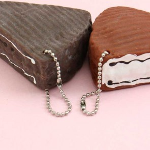 Chocolate Cake Slice Stress Toy Charm