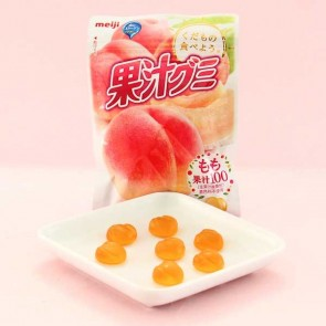 Meiji Fruit Gumi Gummy Candy - Peach
