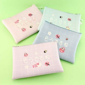 Pastel Japanese Icons Pouch