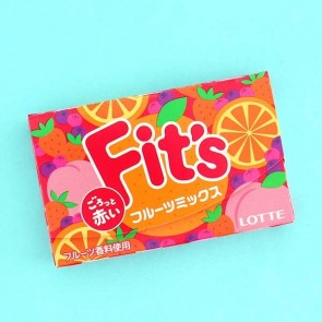 Lotte Fit's Bubble Gum - Mix Fruit Flavor