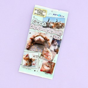 Ensky Cat Sticker & Bubble Gum Set