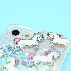 Blue Unicorn Glitter Protective Case for iPhone 7 / 8