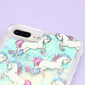Blue Unicorn Glitter Protective Case for iPhone 7 / 8 Plus