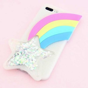 Shooting Glitter Star Protective Case for iPhone 7 / 8 Plus