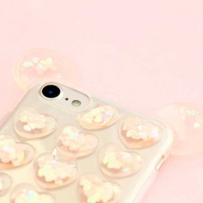 Cute Heart Bubble Protective Case for iPhone 8 / SE