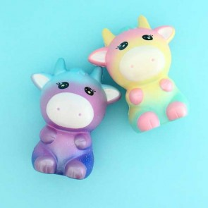 Areedy Rainbow & Galaxy Cow Squishy