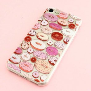 Glitter Donut Protective Case for iPhone 8 / SE