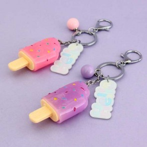 Light-Up Ice Cream Keychain & Charm