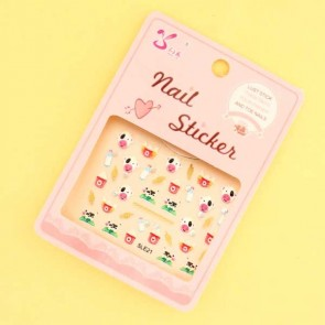 Cute Cow Nail Stickers