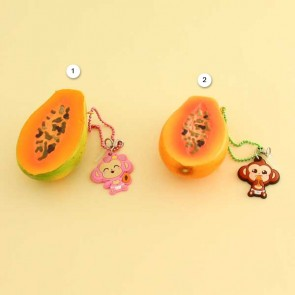 Puni Maru Cheeki Papaya Squishy Charm