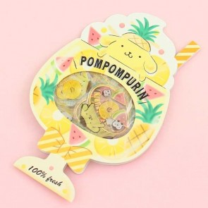 Pompompurin Summer Drink Transparent Stickers