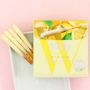 Pocky Double Biscuit Sticks - White Chocolate & Lemon
