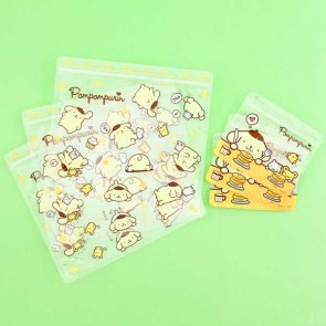 Pompompurin Ziptop Bag Set - Pudding