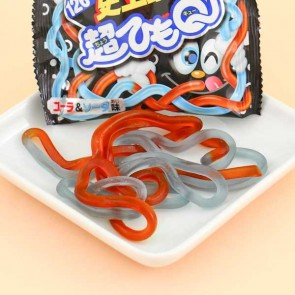 Meiji Cho HimoQ Super Long Gummy String - Cola & Soda