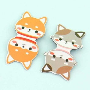 Cute Peeking Animals Magnetic Bookmark Set