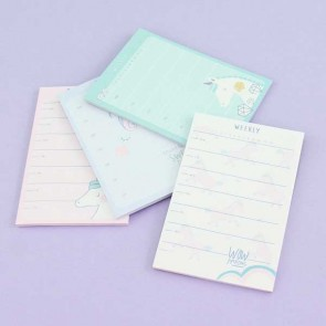 Unicorn Sticky Weekly Memo Pad