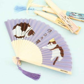 Japanese Neko Traditional Folding Fan