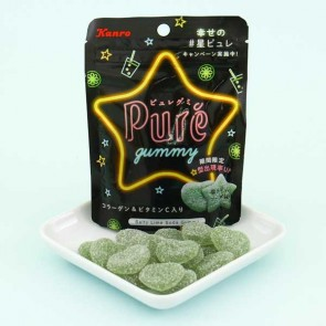 Kanro Puré Gummy - Salty Lime Soda