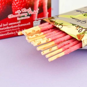 Pocky Biscuit Sticks - Strawberry Flakes & Cream