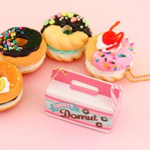J Dream Mini Donuts Squishy Charm in Gachapon Capsule