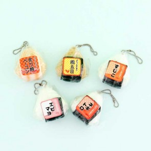 J Dream Onigiri Squeeze Toy Charm in Gachapon Capsule