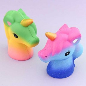 Galaxy & Rainbow Unicorn Head Squishy
