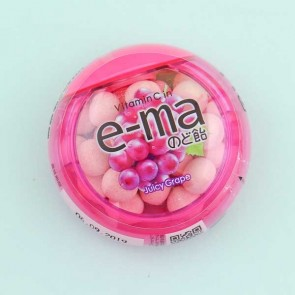 UHA e-ma Fruit Juice Candy - Juicy Grape Flavor
