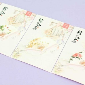 Miss Time Folding Fan Sticky Notes