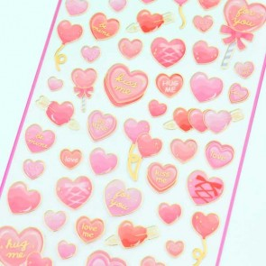 Pink Gemic Romantic Heart Stickers