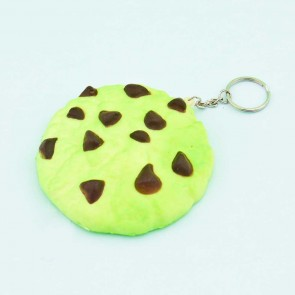 Green Tea Cookie Squishy Keychain