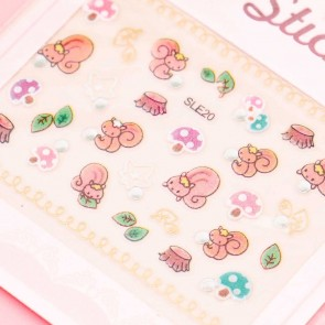 Cute Squirrel Nail Stickers
