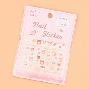 Honey Hug Bear Nail Stickers