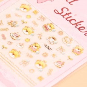 Hello Bear Nail Stickers