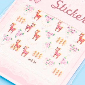 Pretty Deer Nail Stickers