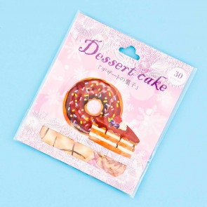 Nekoni Dessert Cake Stickers - Chocolate