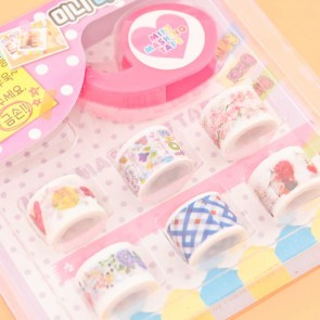 Korean Cute Mini Washi Tape Set - 7 pcs