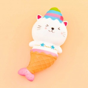 Ice Cream Mermaid Kitty Squishy