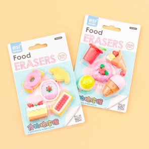 Desserts & Pastries Eraser Set - 5 pcs