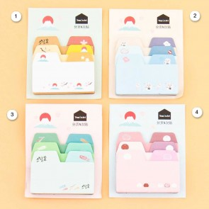 Pastel Fuji Mountain Sticky Note & Memo Pad Set