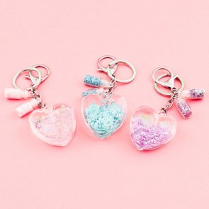 Heart Shaped Fantasy Keychain & Charm