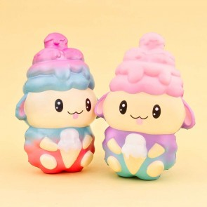 Rainbow Ice Cream Sheep Squishy