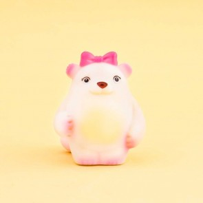 Squeaky Polar Bear Toy Keychain & Charm