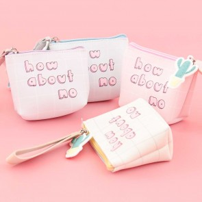 Funny Caption Coin Purse - How About No