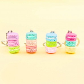 Stacked Pastel Macarons Keychain