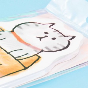 Cute Cat In A Box Memo Pad